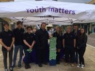 Councillor Cooke visited us during our Mental Health awareness event in Priory Meadow.